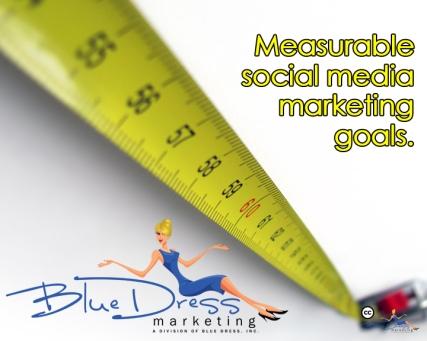Blue Dress Social Media Marketing - Online Marketing - measurable copy