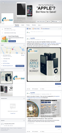 AppleBid Facebook Page